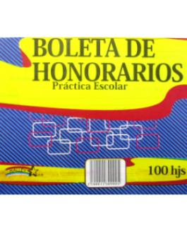 BOLETA DE HONORARIOS PRACT ESCOLAR HALLEY