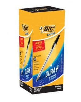 BIC CRISTAL COLORES PUNTA MEDIA NEGRO 1 UND